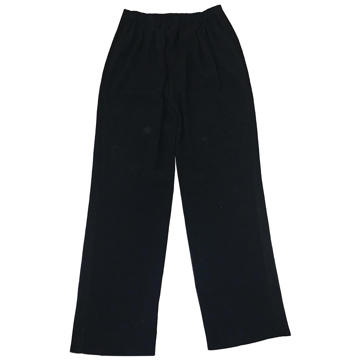 Kenzo \N Black Cotton Trousers for Women 38 FR