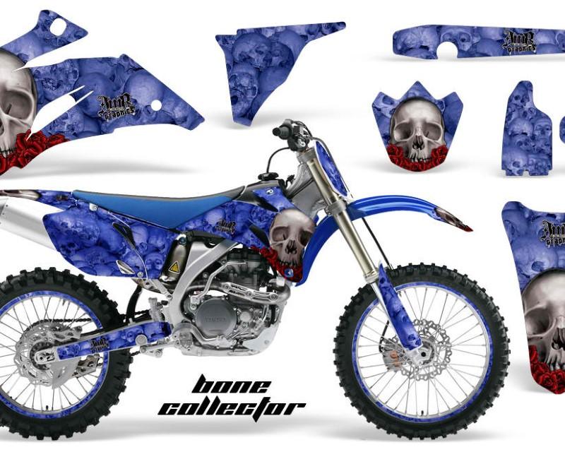 AMR Racing Graphics MX-NP-YAM-YZ250F-YZ450F-06-09-BC U Kit Decal Wrap + # Plates For Yamaha YZ250F YZ450F 2006-2009áBONES BLUE