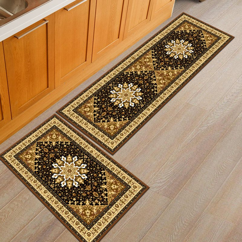 Beddinginn Skid Resistance Floral Rectangle Carpets/Mats