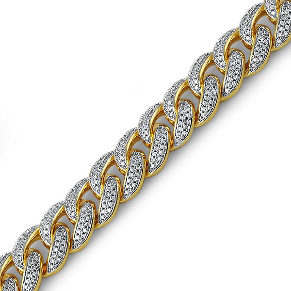 Gold Miami Cuban CZ Bracelet 15MM