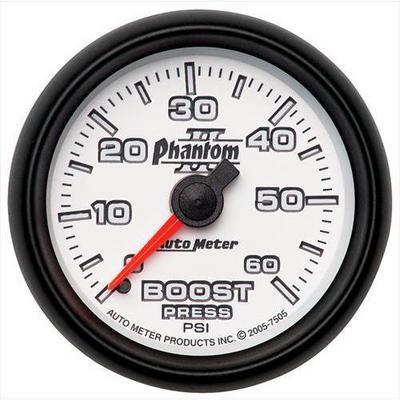 Auto Meter Phantom II Mechanical Boost Gauge - 7505