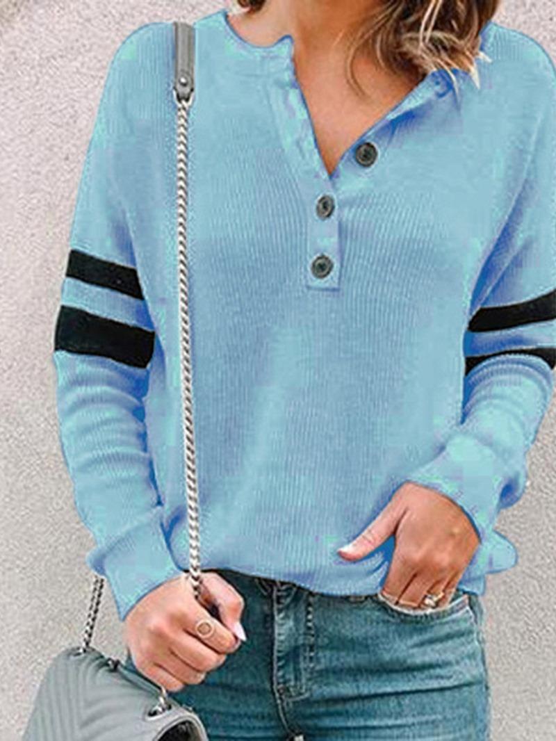 Ericdress Plain Regular Button Fall Long Sleeve Hoodie