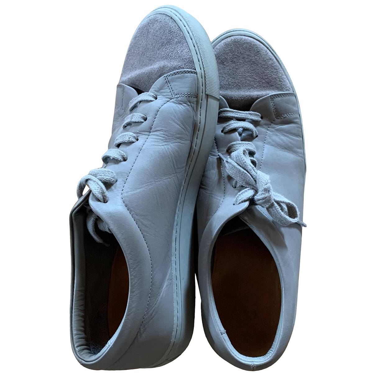 Cos \N Grey Leather Lace ups for Men 45 EU