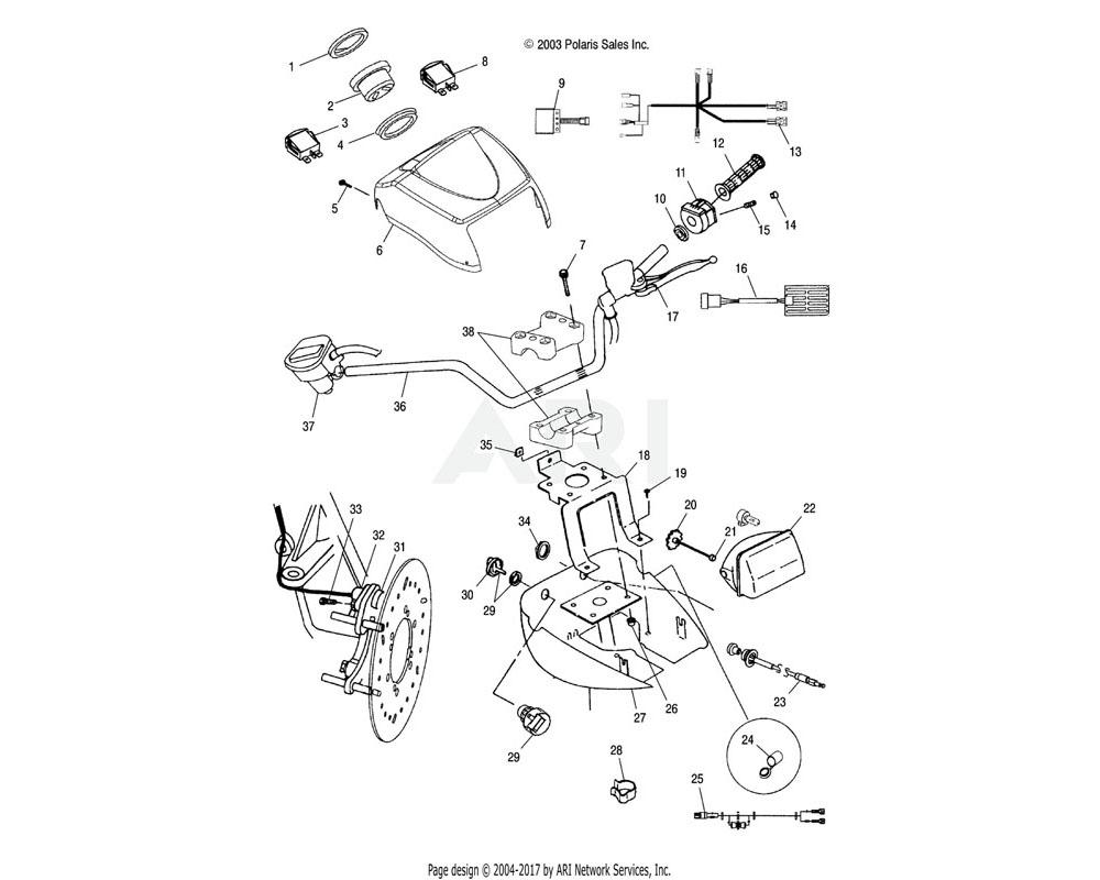 Polaris OEM 5434706-053 Pod, Headlight, Upper | [AL]