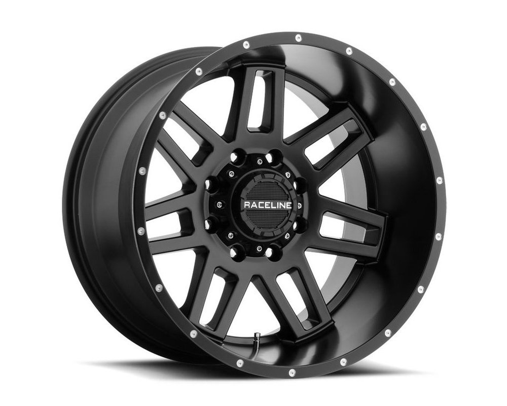 Raceline 931B Injector Satin Black Wheel 20X9 8X165.1 -12mm
