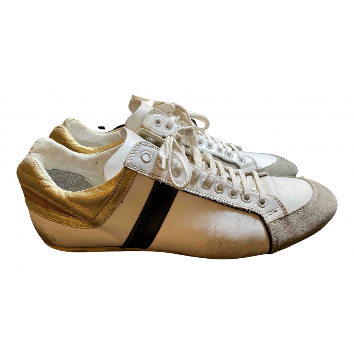Dior Homme \N White Leather Trainers for Men 43 IT