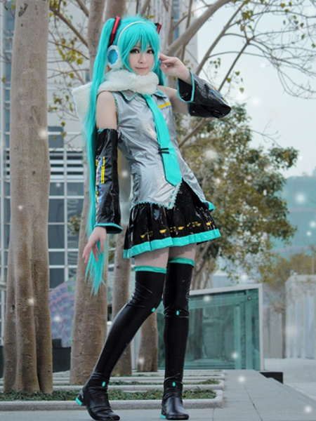 Milanoo Vocaloid Hatsune Miku Anime Halloween Cosplay Costume Halloween Deluxe Edition