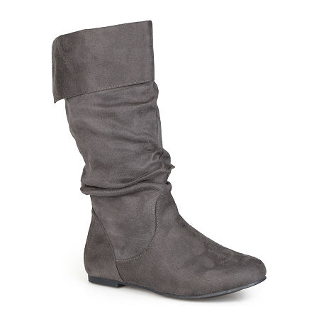 Journee Collection Womens Shelley Slouch Boots, 9 Medium, Gray