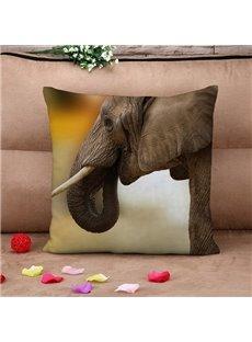 Marvelous Elephant Print Square Throw Pillow Case