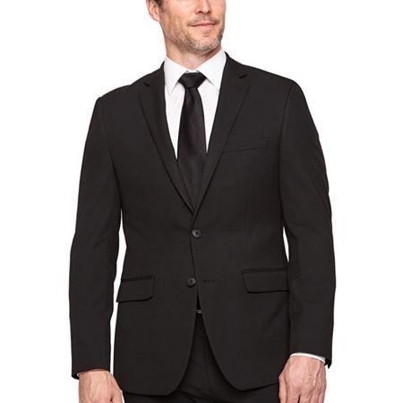 Van Heusen Mens Stretch Slim Fit Suit Jacket, 44 Regular, Black