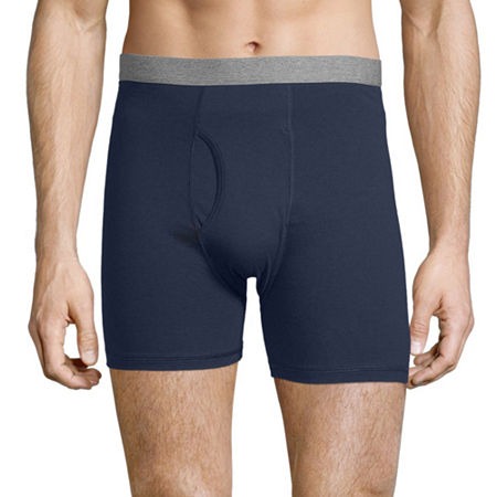 Stafford 4 Pair Dry+Cool Blended Boxer Briefs - Men's, Xx-large , Blue