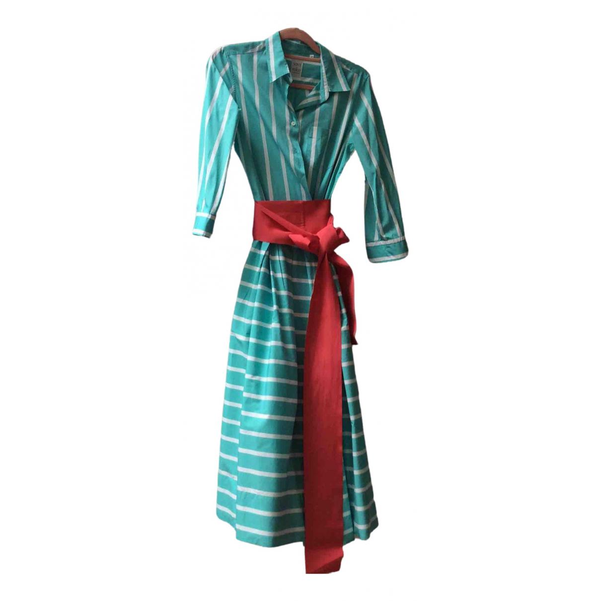 Sara Roka \N Turquoise Cotton dress for Women 42 IT