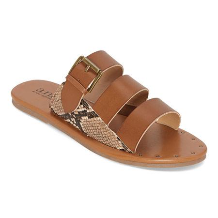 a.n.a Womens Erie Flat Sandals, 6 1/2 Medium, Brown