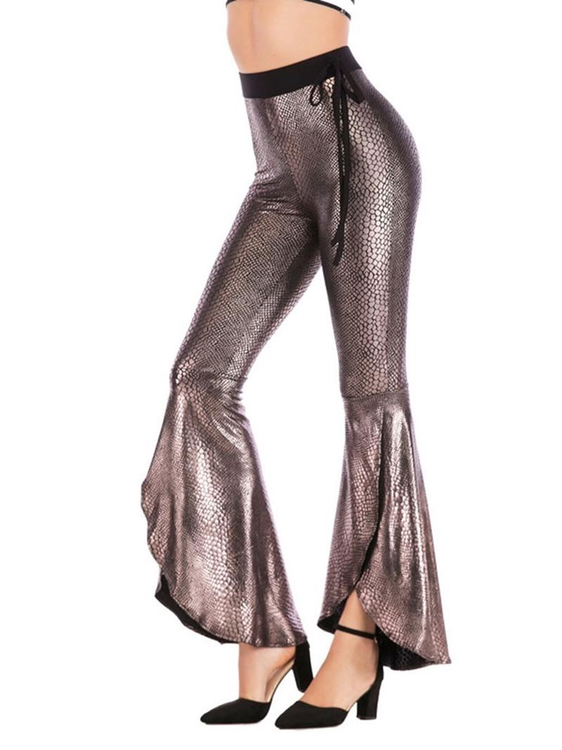 Ericdress Leopard Skinny Plain Bellbottoms Full Length Casual Pants
