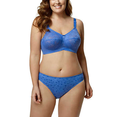 Elila Lace Softcup Full Coverage Bra, K , Blue