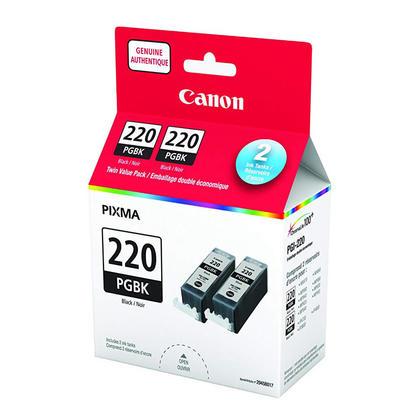 Canon PGI-220BK 2945B017 Original Pigment Black Ink Cartridge Twin Pack