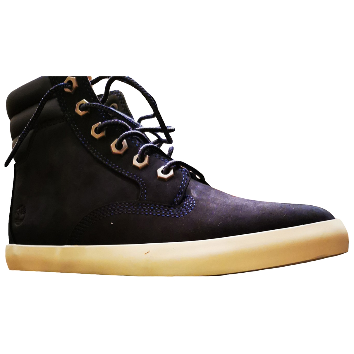 Timberland \N Blue Leather Ankle boots for Women 37 EU
