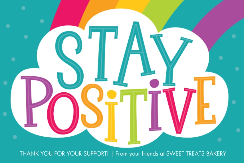 COVID-19 24x36 Adhesive Poster, Home Décor -Stay Positive