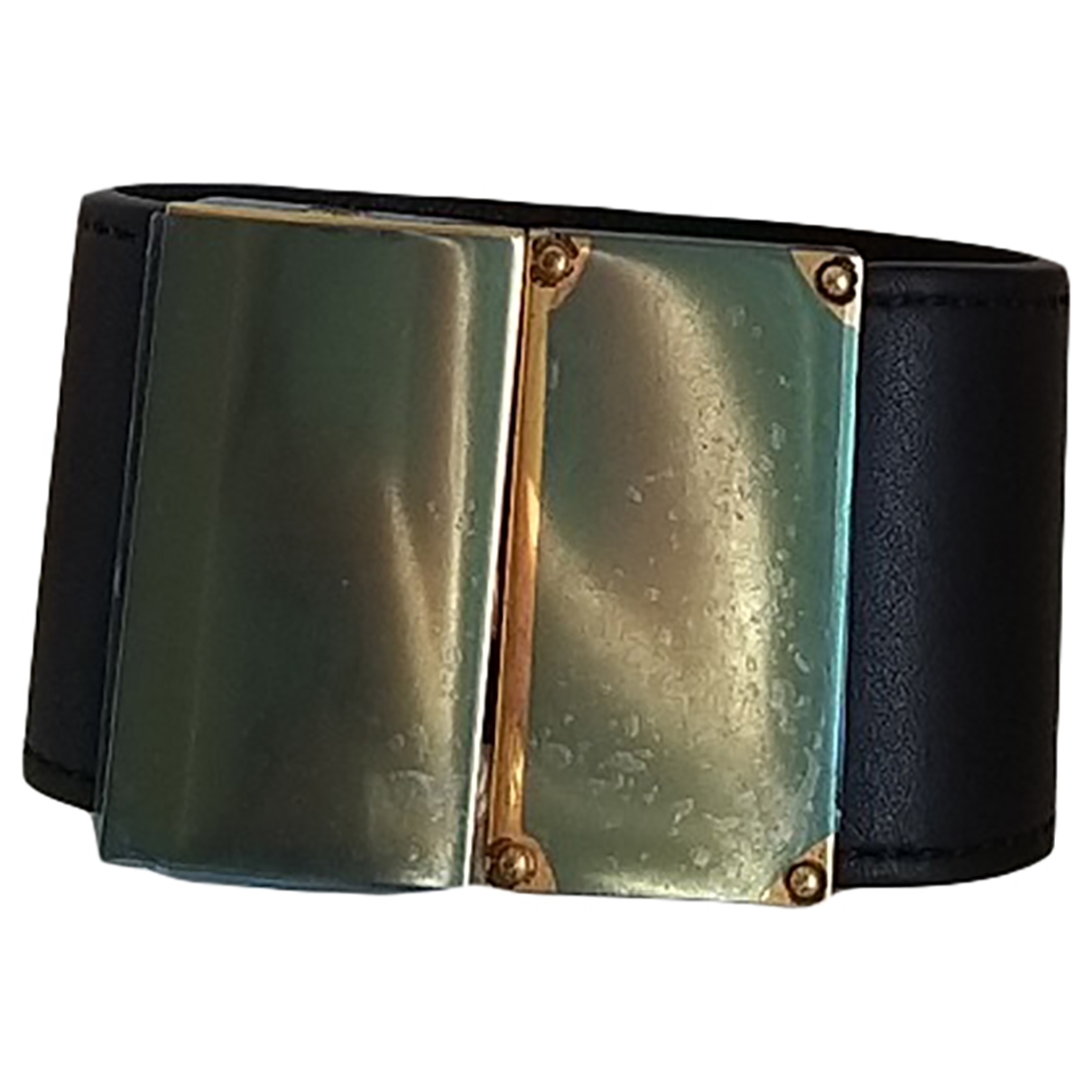 Celine \N Black Leather bracelet for Women \N