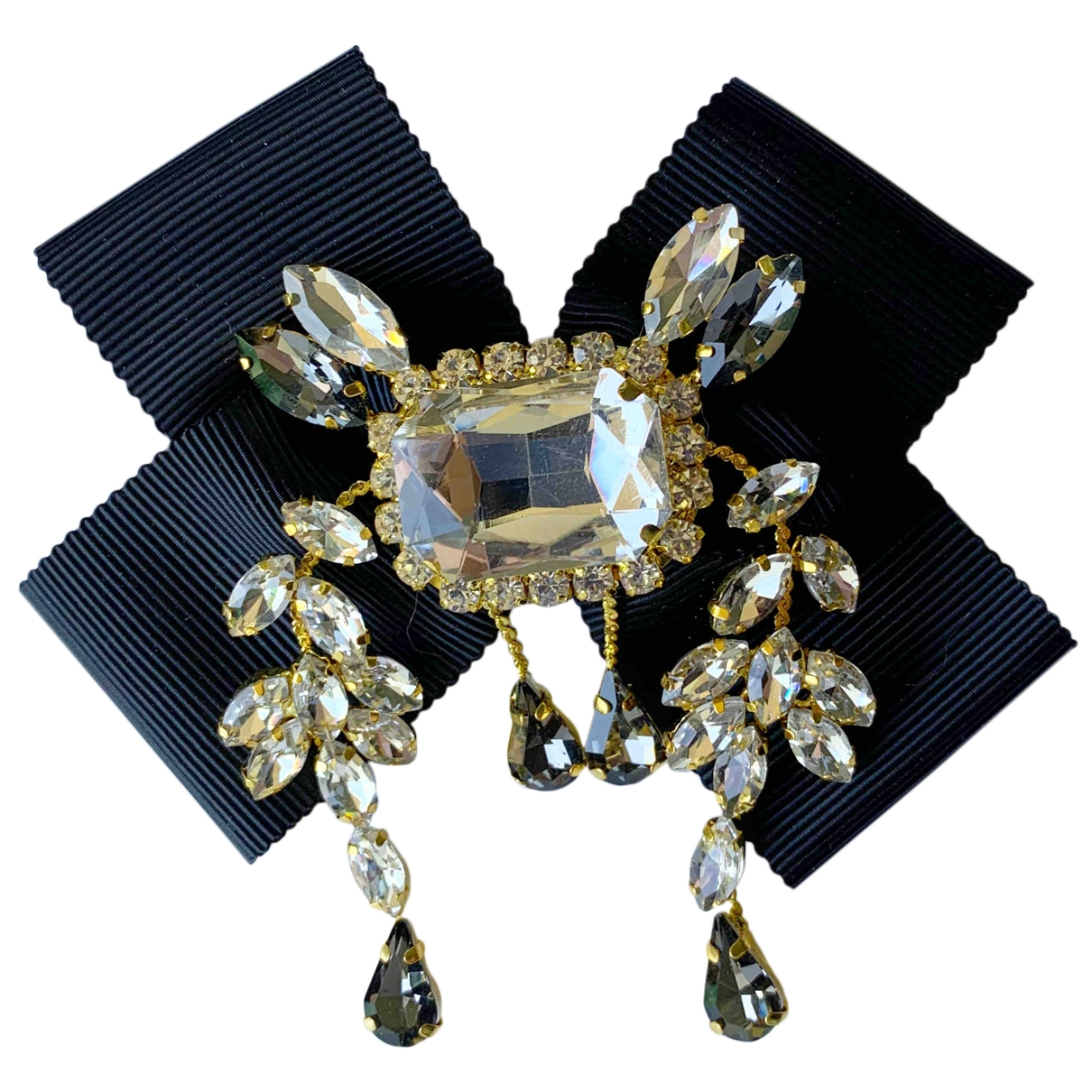 Non Signé / Unsigned \N Black Pins & brooches for Women \N