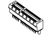 Molex Vertical Male PCBEdge Connector, Through Hole Mount, 64 Way, 1mm Pitch, 1.1A (1680)
