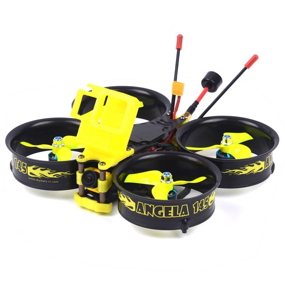 Skystars Angela 145 145mm 3inch 3-4S FPV Whoop Racing Drone With MINI F4 35A 500mW VTX Caddx Ratel Cam BNF - Frsky R9MM Receiver