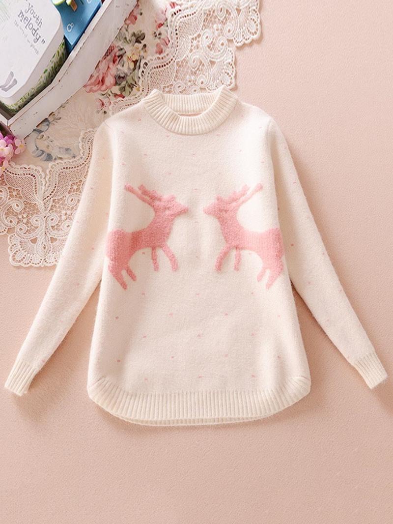 Ericdress Lovely Korean Giraffe Print Sweater