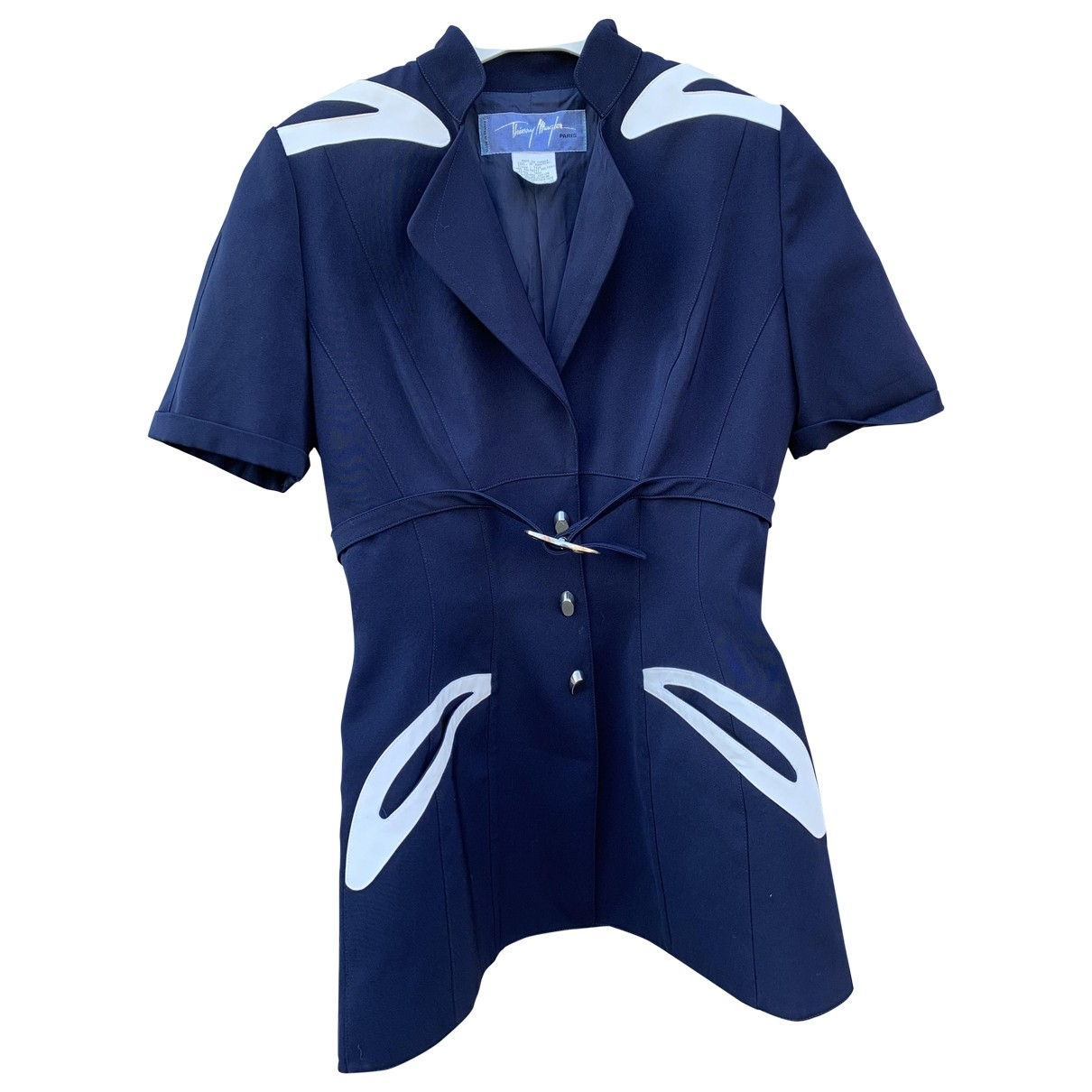Thierry Mugler \N Navy Cotton jacket for Women 36 FR