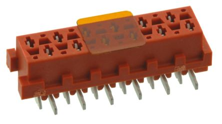 TE Connectivity , Micro-MaTch 2.54mm Pitch 12 Way 2 Row Straight PCB Socket, Surface Mount, Solder Termination (5)