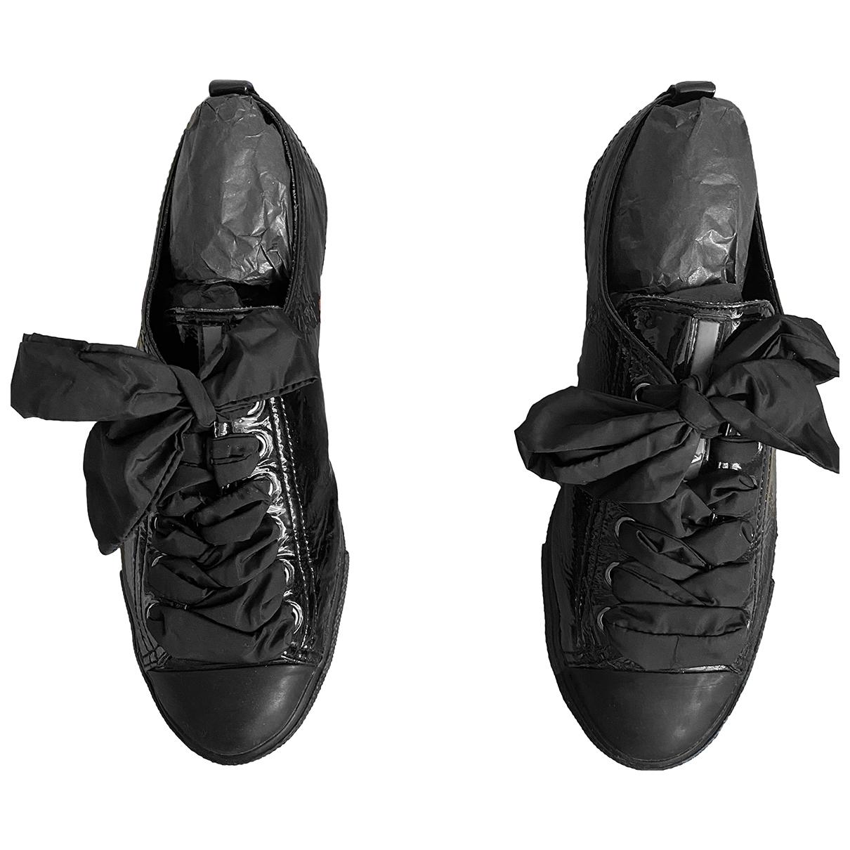 Prada \N Black Leather Trainers for Women 38.5 IT