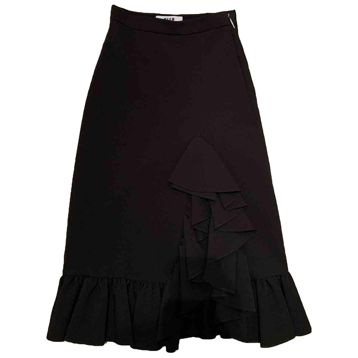 Msgm \N Black skirt for Women 38 IT