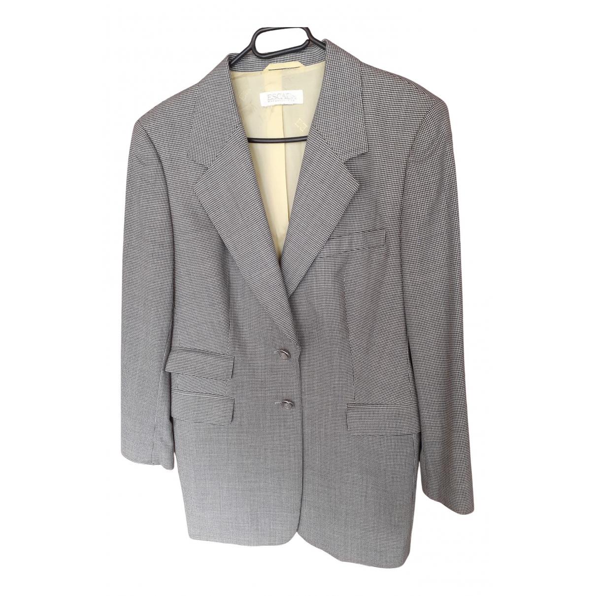 Escada \N Grey Wool jacket for Women XL International