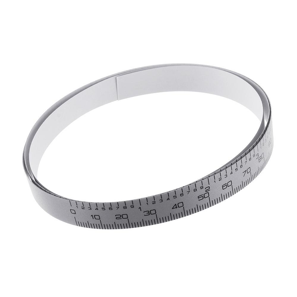 0-100/150/200/300/400/500 mm Metric/Inch Ruler Tape Self Adhesive Tape for Digital Caliper Replacement
