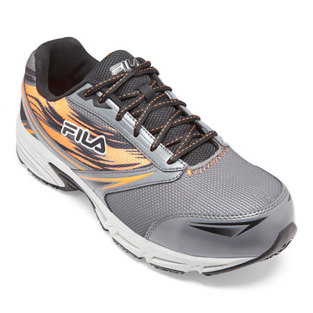 Fila Memory Meiera 2 Composite Toe Slip-Resistant Work Shoes Mens Running Shoes, 11 Medium, Gray