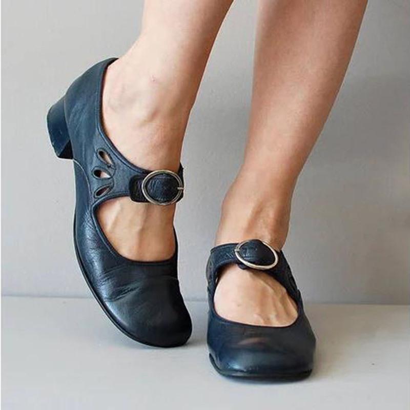Ericdress Buckle Wedge Heel Buckle Low-Cut Upper Thin Shoes