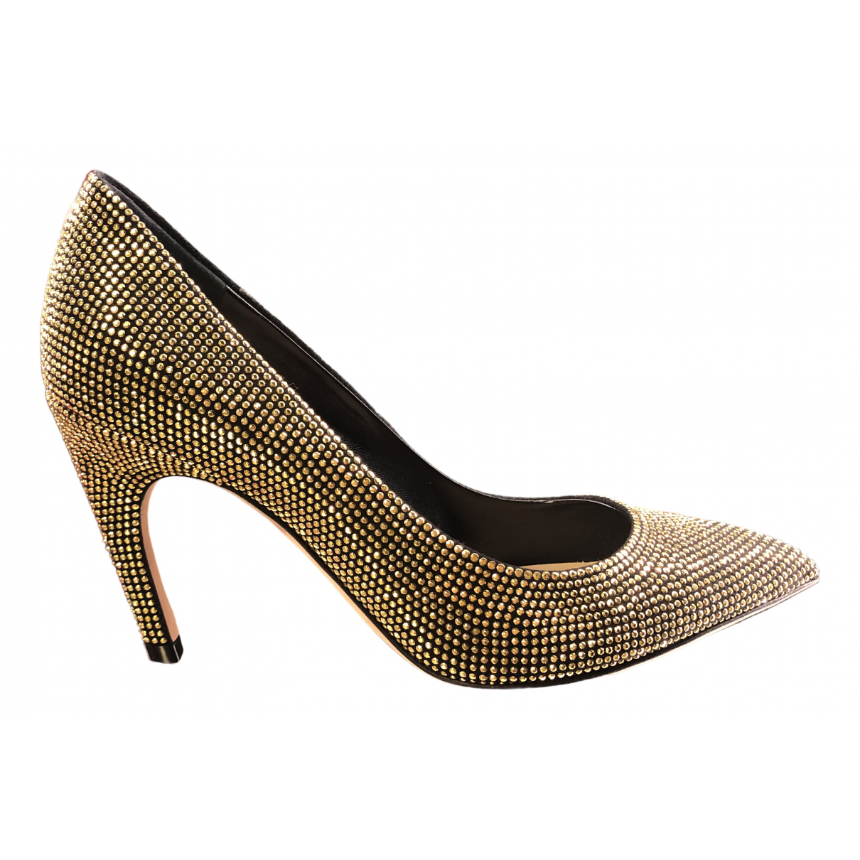 Dior \N Gold Leather Heels for Women 35 EU