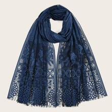 Hollow Out Floral Scarf