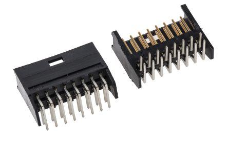 TE Connectivity , AMPMODU MOD II, 16 Way, 2 Row, Right Angle PCB Header (10)
