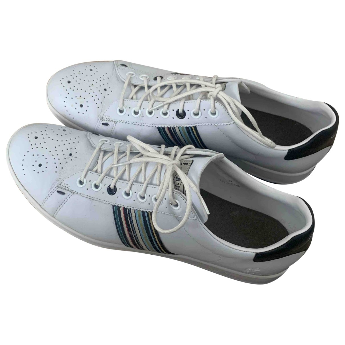 Paul Smith \N White Leather Trainers for Men 43 EU