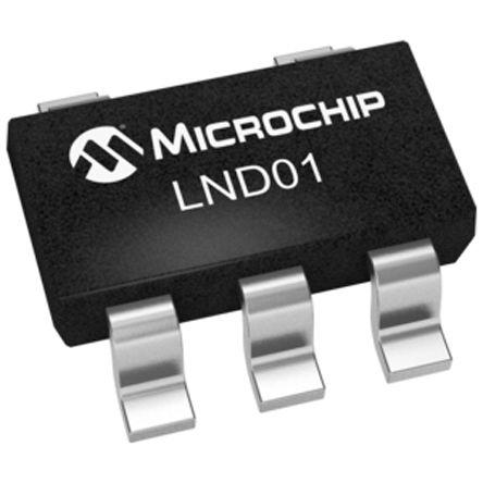Microchip N-Channel MOSFET, 330 mA, 9 V Depletion, 5-Pin SOT-23  LND01K1-G (25)