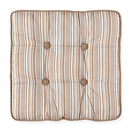 Toile Garden Square Decorative Pillow, One Size , Beige