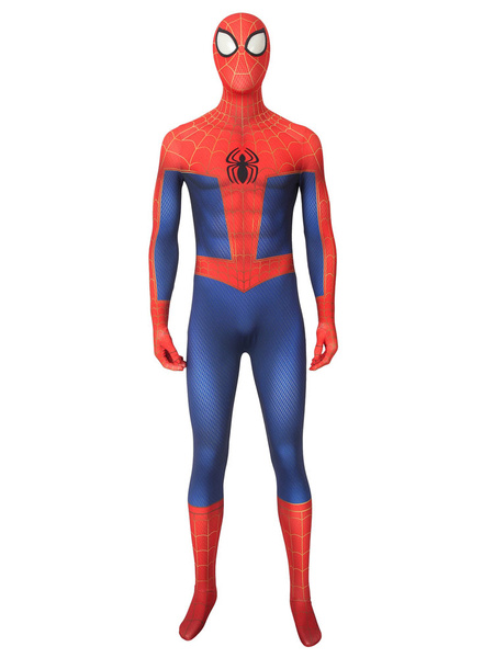 Milanoo Marvel Comics Spider Man Cosplay Spider Man: Into The Spider Verse TV Animation Peter Parker Cosplay Suit Halloween