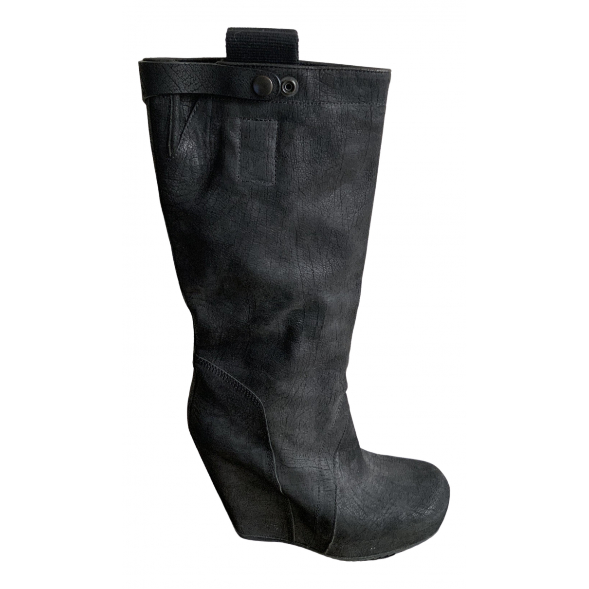 Rick Owens \N Anthracite Suede Boots for Women 38 EU
