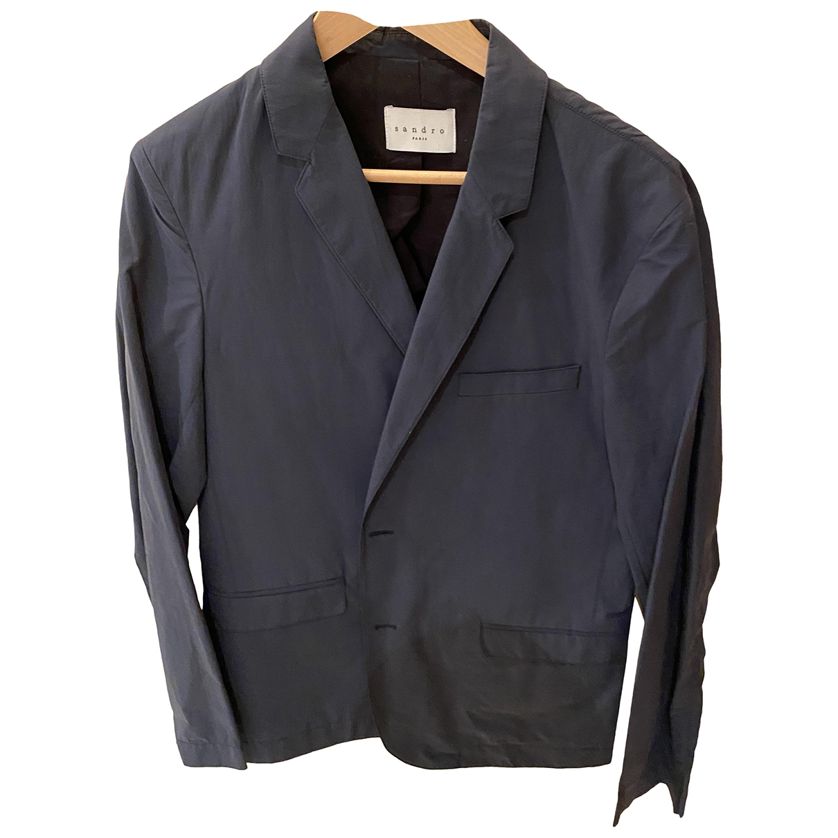 Sandro \N Blue Cotton jacket  for Men 48 FR