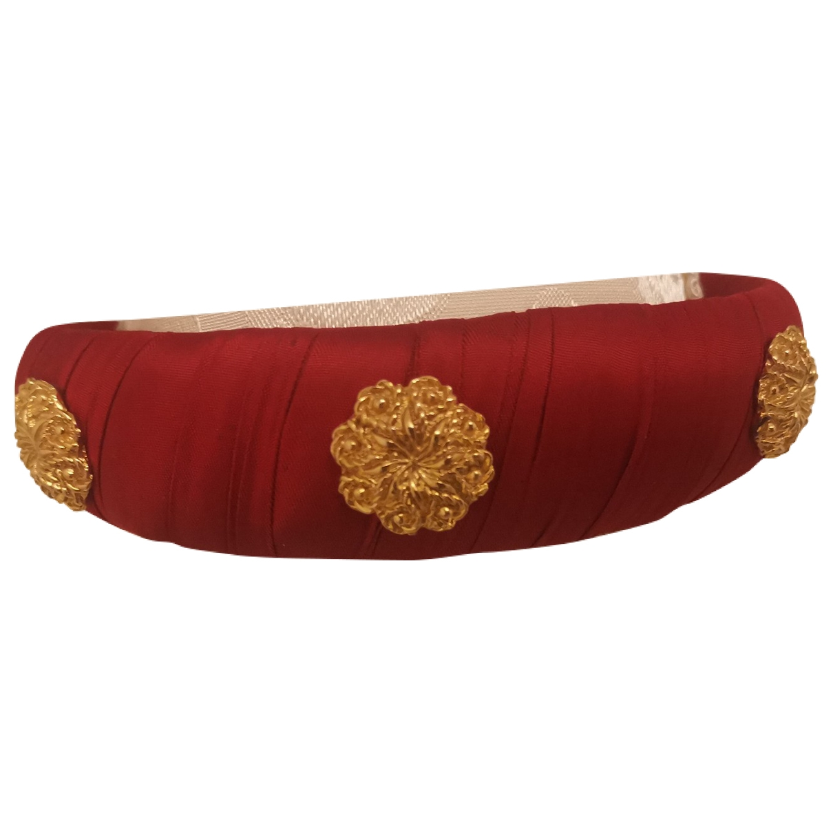 Non Signé / Unsigned \N Red Silk Hair accessories for Women \N