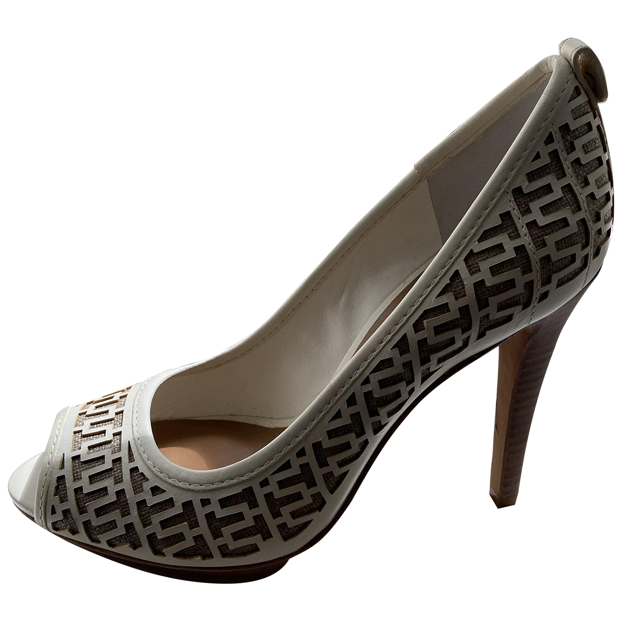 Tory Burch \N White Leather Heels for Women 8.5 US