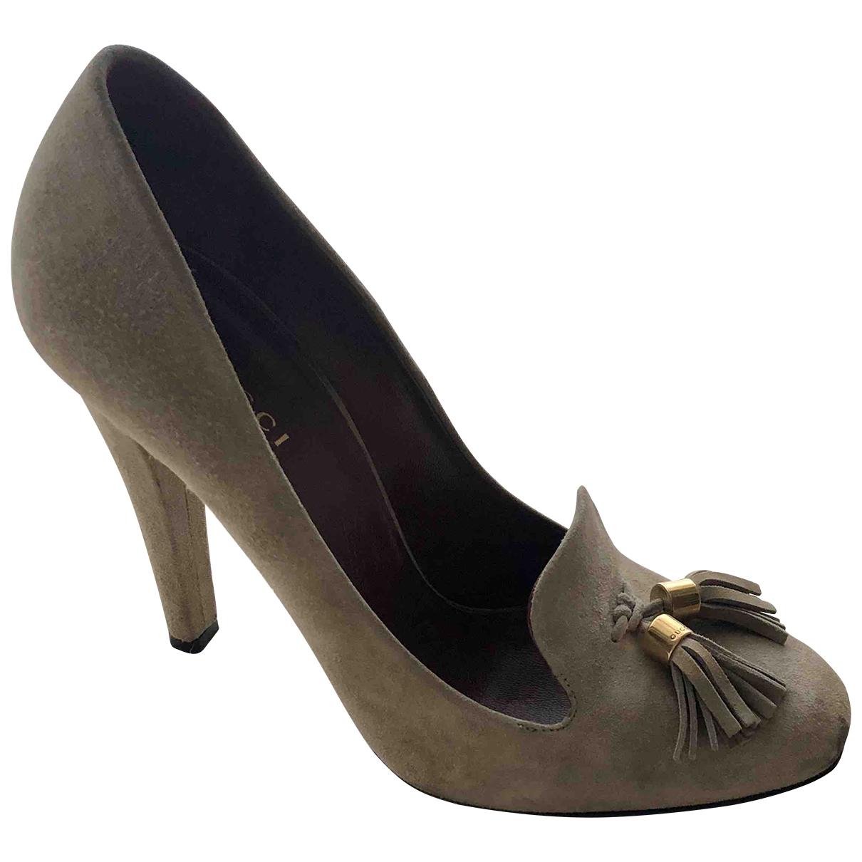 Gucci \N Grey Suede Heels for Women 36.5 IT