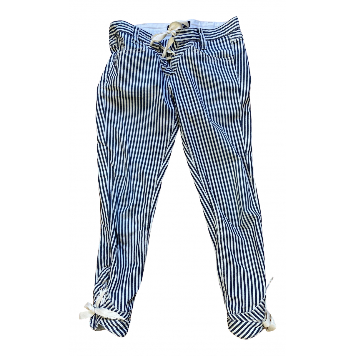 Isabel Marant \N Blue Cotton Trousers for Women 0 0-5