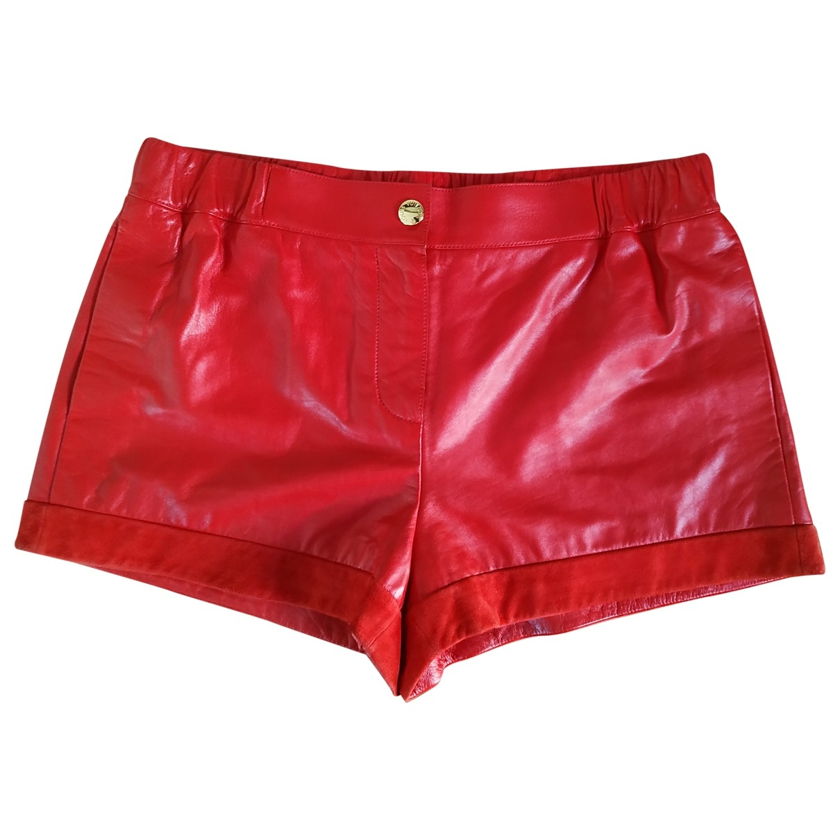 Louis Vuitton \N Red Leather Shorts for Women 40 FR