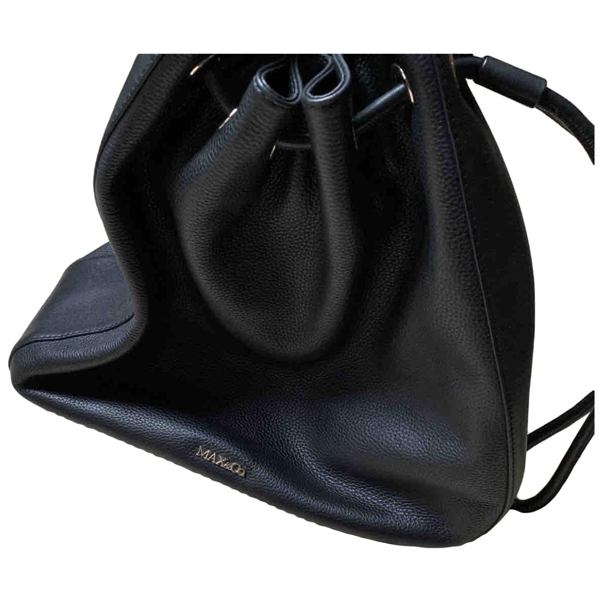 Max & Co \N Black Leather handbag for Women \N